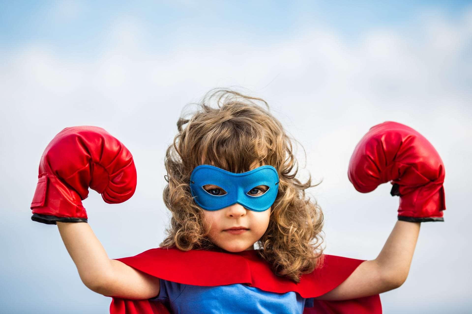 bambina costume super eroe